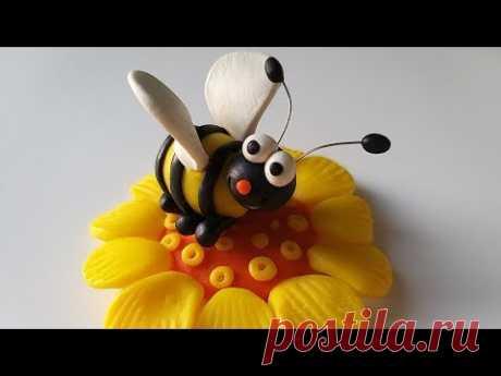 Как слепить Пчелу 🐝 из мастики или пластилина (Cake/Fondant Topper - Bee). - YouTube