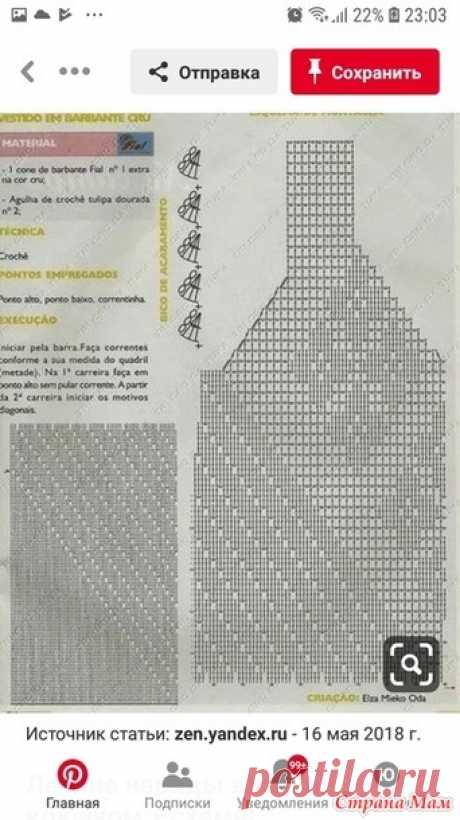 Сарафан-плагиат крючком - Вязание - Страна Мам