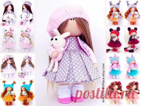 Fabric Baby Doll Nursery Textile Doll Original Love Gift | Etsy