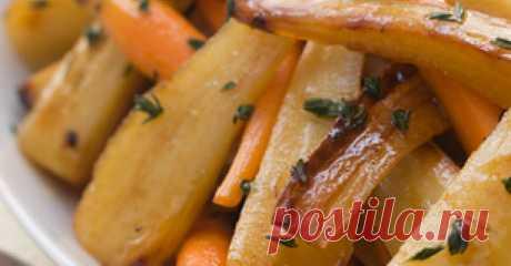 Корень пастернака и морковь