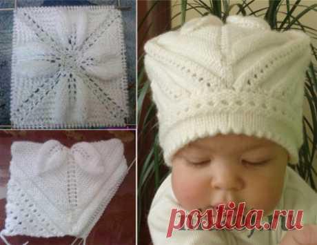 Шапочка спицами малышу » Ниткой - вязаные вещи для вашего дома, вязание крючком, вязание спицами, схемы вязания