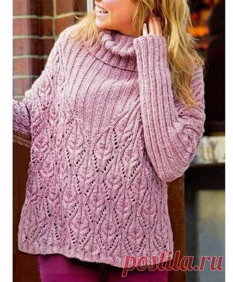 3 шикарных свитера для худеньких и пышных дам (с описанием) .Спицы.