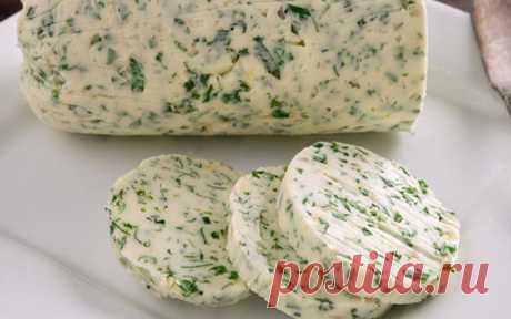 Домашнее бутербродное масло с зеленью — Sloosh – кулинарные рецепты