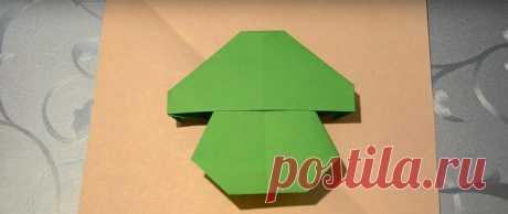 Как сделать оригами гриба - схемы, пошаговые инструкции и видео Гриб оригами - это несложная детская поделка из бумаги. Которую можно предложить для изготовления еще старшим дошкольникам. Есть несколько вариантов схем