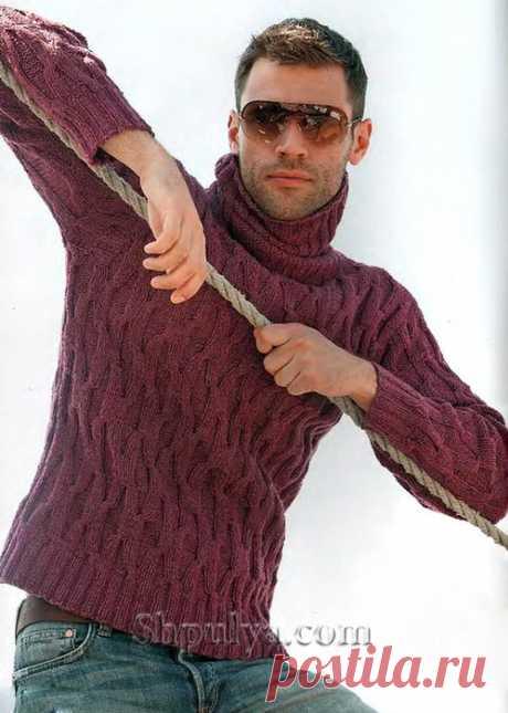 Красный мужской свитер.