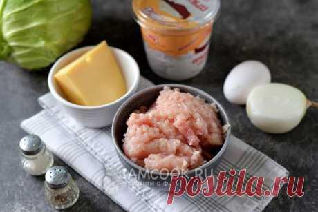Слоеная капустная запеканка с куриным фаршем — рецепт с фото пошагово