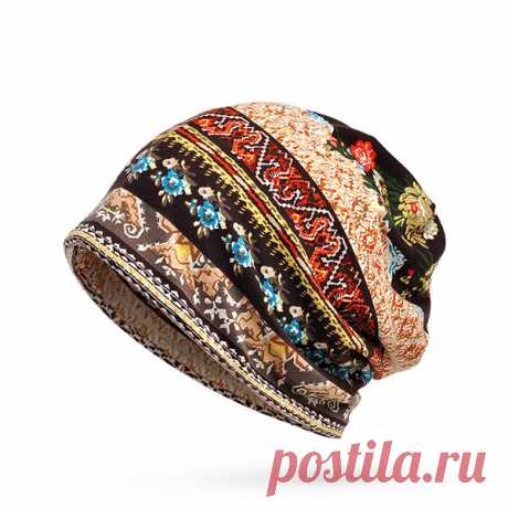 High-quality Women Cotton Print Stripe Bonnet Hats Casual Outdoor Sun Cap Multi-function Towel - NewChic