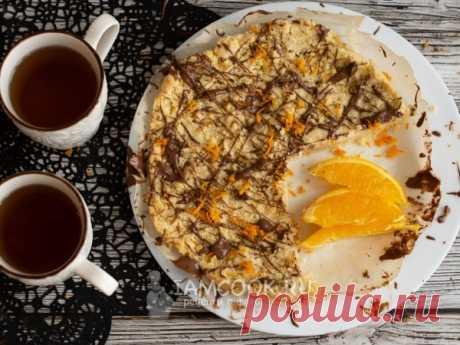 Песочный пирог с цедрой апельсина — рецепт с фото на Русском, шаг за шагом. Очень быстрый песочный пирог с цедрой апельсина и шоколадом. #рецепт #рецепты #рецептик #выпечка #пирог #кчаю