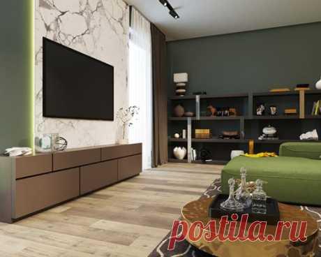 Ламинат для вашей новой гостиной в интерьере с теплой цветовой гаммой от SPC StoneFloor Дуб Канадский купить в Кирове.