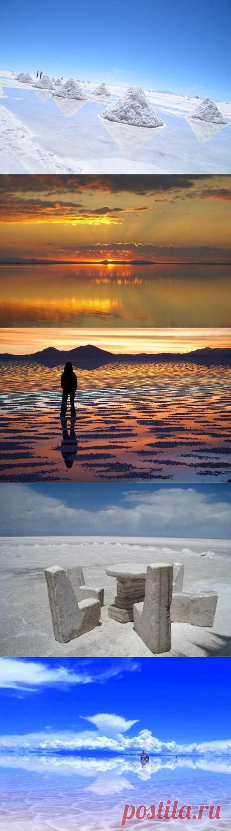 Солончак Уюни (Salar de Uyuni)-природное зеркало Земли | В мире интересного
