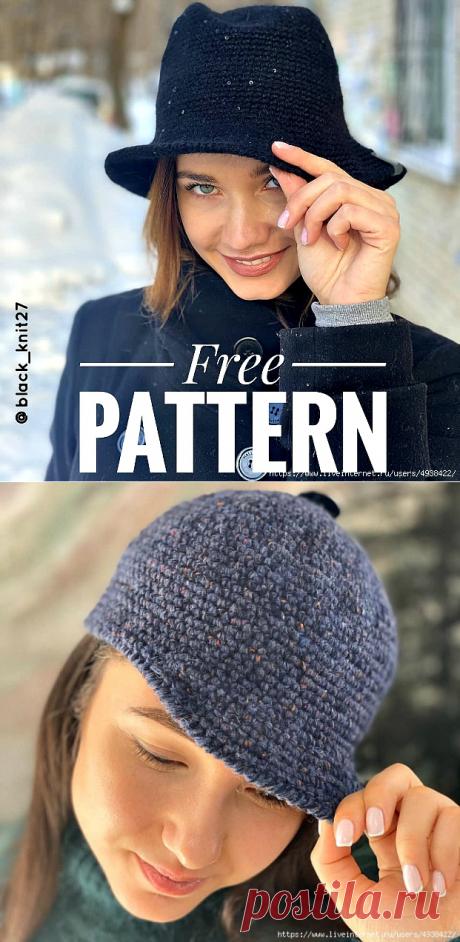 Женские шляпа-панама и кепка крючком.