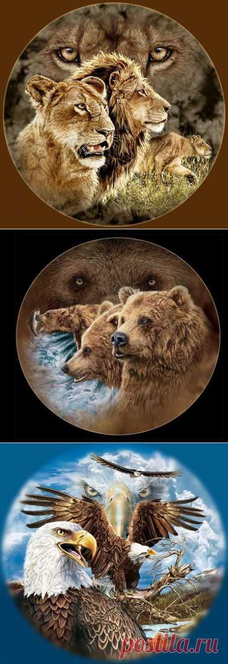 Этот чудесный рисованный мир. Животные в живописи Стивена Гарднера.