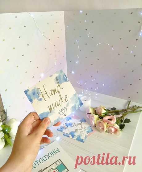 Пластиковый фотобокс для предметной сьёмки с золотыми сердечками и пастельной расцветкой 50х50х50 см