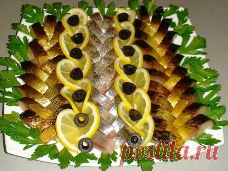 Варианты подачи рыбной нарезки к праздничному столу