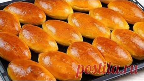 Сладкие пирожки в духовке! Печеные пирожки с яблочным повидлом!