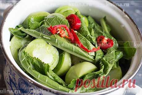 Квашеные зеленые помидоры – рецепт приготовления с фото от Kulina.Ru