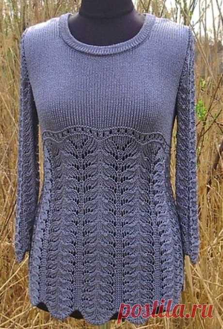 Спицы.Пуловер.Узор.