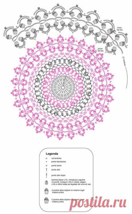 Изысканная салфетка из категории Интересные идеи – Вязаные идеи, идеи для вязания