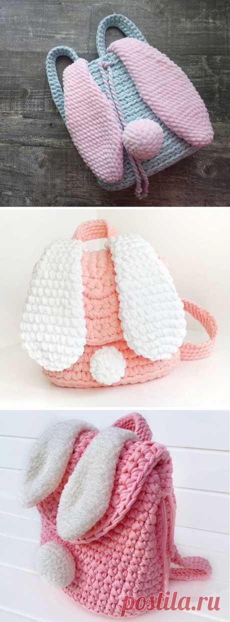 Рюкзак для вязания крючком - Уши кролика - Пик дизайна