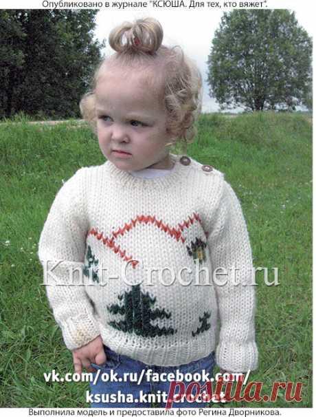 Пуловер с «елочками» на спицах. - Малышам на спицах - Вязание спицами - Каталог статей - Вязание спицами и крючком