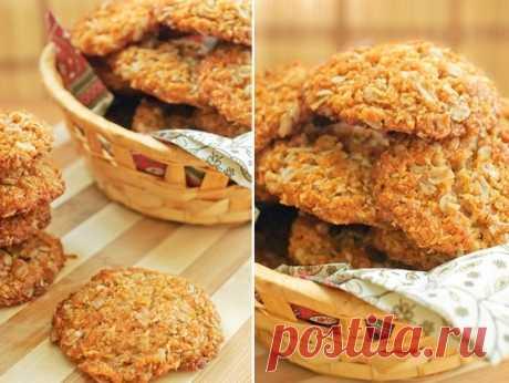 Овсяное печенье с кокосом - Кулинарный рецепт - Повар в доме