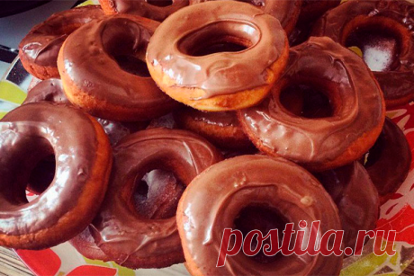 Пончики в шоколаде без дрожжей