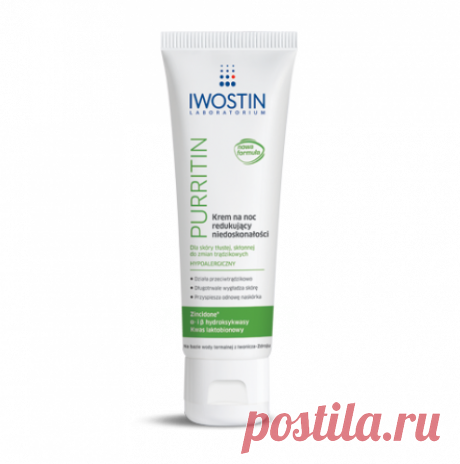 IWOSTIN Purritin night cream 40ml IWOSTIN Purritin night cream UK 40ml I online shopping from Iwostin