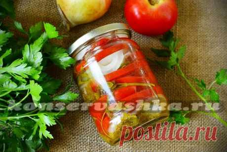 Tomatoes onions salad for the winter