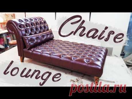 Шезлонг chaise lounge DIY мебель своими руками
