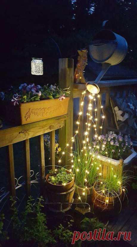 Садовый светильник своими руками: примеры на 50 фото