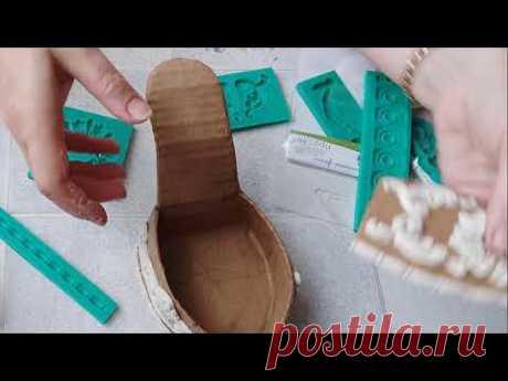 Лабутены из картона. Как сделать шкатулку туфельку. DIY/рукоделие.