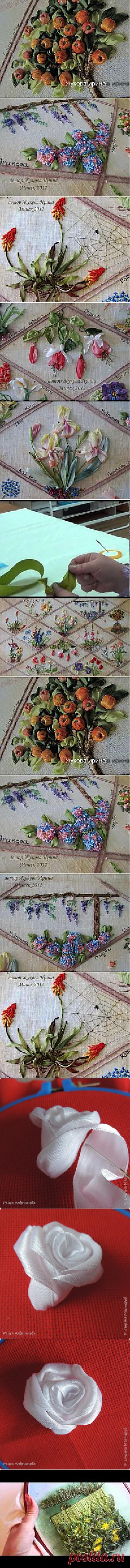 Поиск на Постиле: объемная вышивка лентами