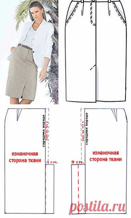 Обработка шлицы на юбке, пиджаках, пальто