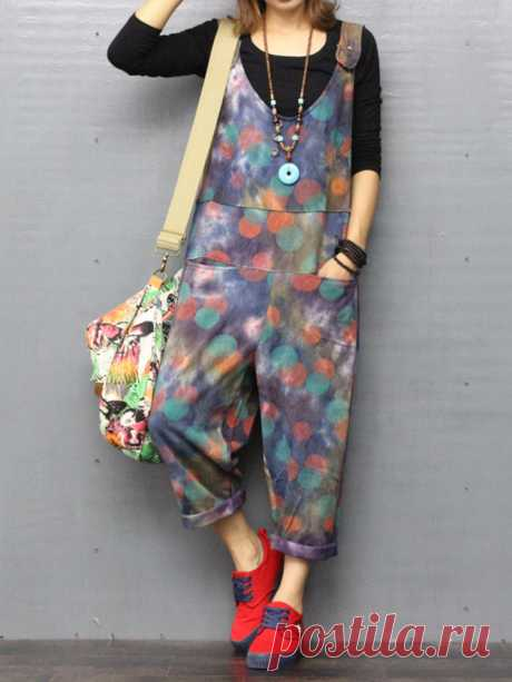 O-NEWE Casual Printed Strap Pockets Jumpsuits For Women  Your friend shared a fashion website for you and give you $60 coupons! Claim it now.