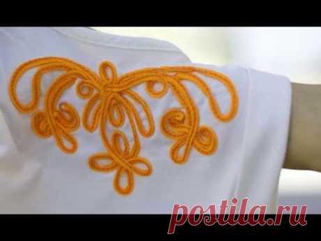 Декор одежды сутажным шнуром. Decor dress sutazhnym cord