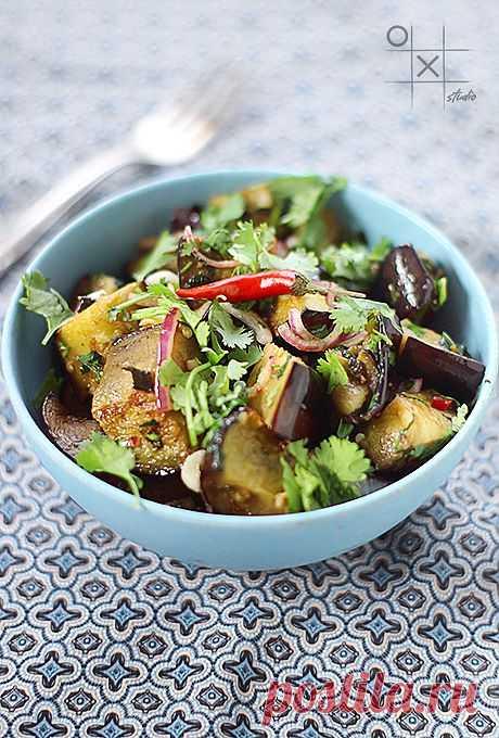 Juicy aubergine salad!