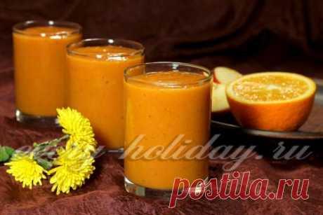 Смузи из тыквы с апельсином и бананом: рецепт