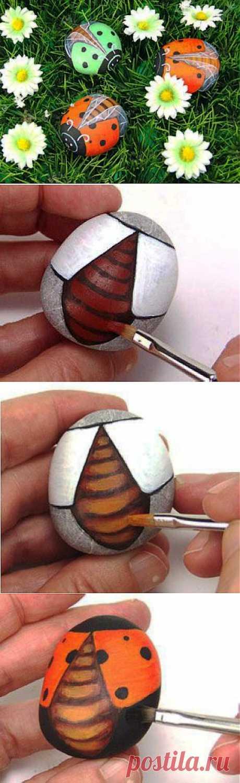 Роспись камней. Мастер-класс | Умелые ручки