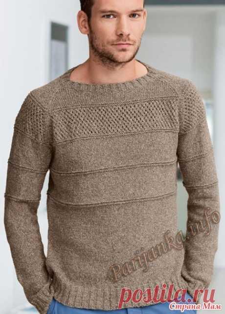 Мужской пуловер - Вязание - Страна Мам