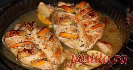 Рецепт куриной грудки с яблоками и лимоном