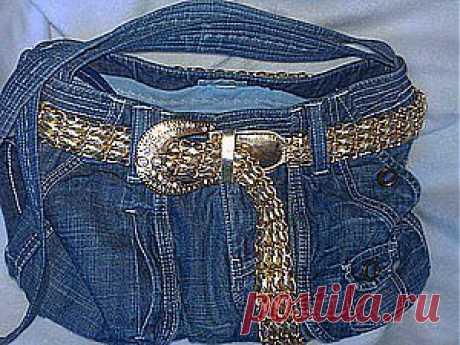 Сумка из старых джинсов, МК | Переделки | Само Совершенство