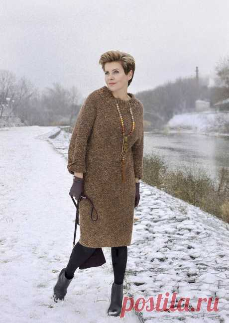 Вязаное платье-свитер для женщин 50+. Оно обязательно должно быть в вашем гардеробе | Мне 50 | Яндекс Дзен