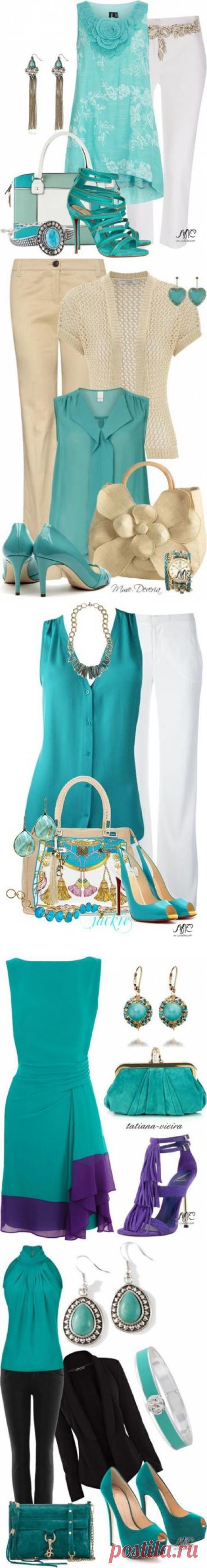 El color hermoso y romántico de azul turquí recuerda el verano y el mar.