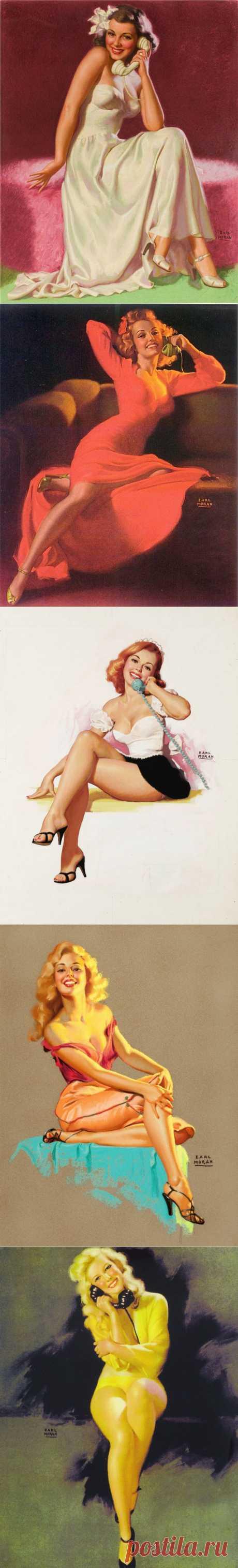 Американский художник-иллюстратор Earl Steffa Moran (1893-1984)