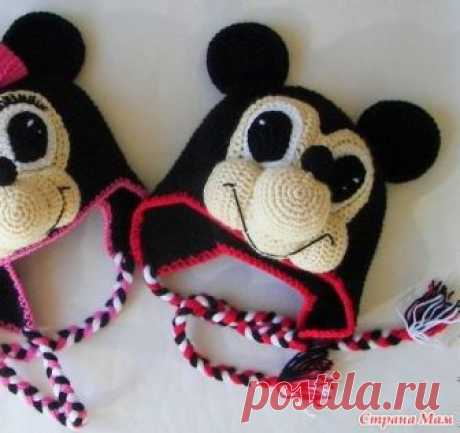 ШАПКА Минни МАУС крючком Minnie Mouse - Страна Мам