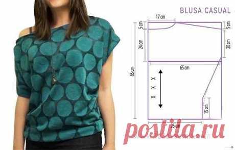 Простоя блуза