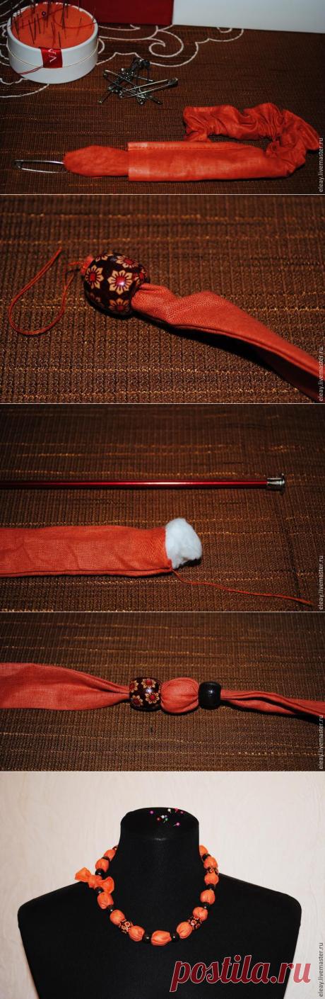 Мастерим текстильные бусы - Ярмарка Мастеров - ручная работа, handmade