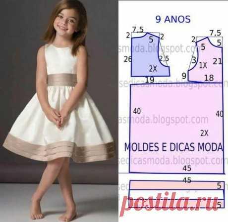 Идеи и Выкройки платьев для маленьких модниц - Бабушкины секреты