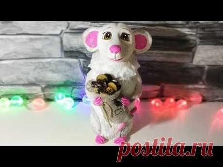 Белая крыса🐀 - СИМВОЛ 2020 года.Как сделать крысу из соленого теста своими руками.Мастер-класс.DIY. - YouTube