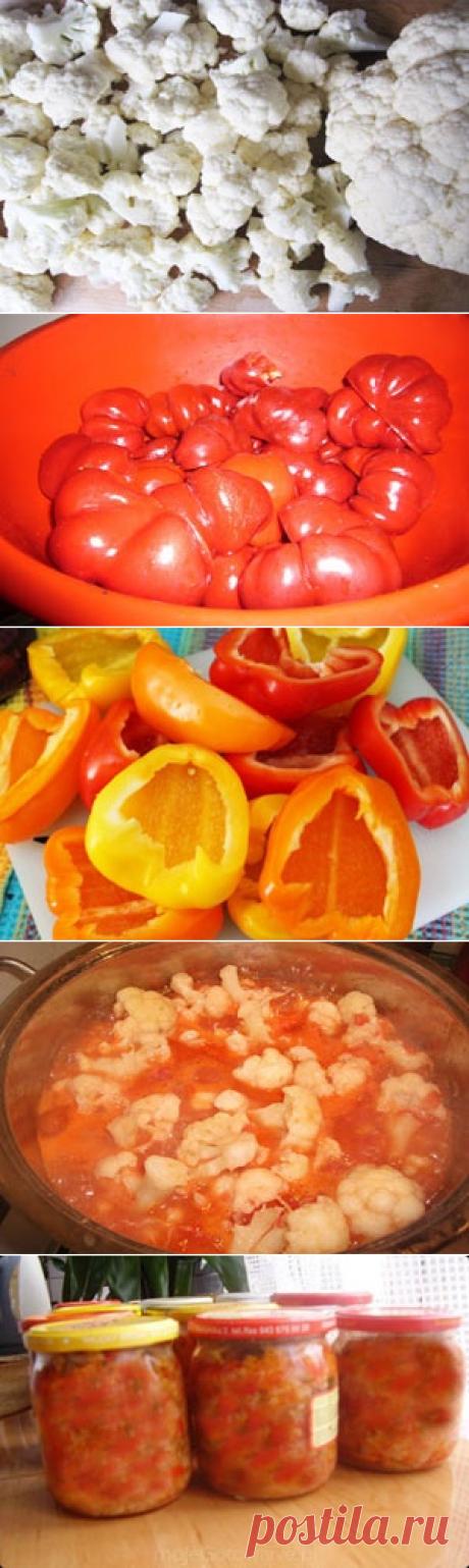 Салат из цветной капусты на зиму / Заготовка капусты / TVCook: пошаговые рецепты с фото